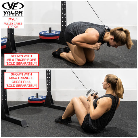 Image of Valor Fitness PY-1 Pulley Cable Station Triceps Rope
