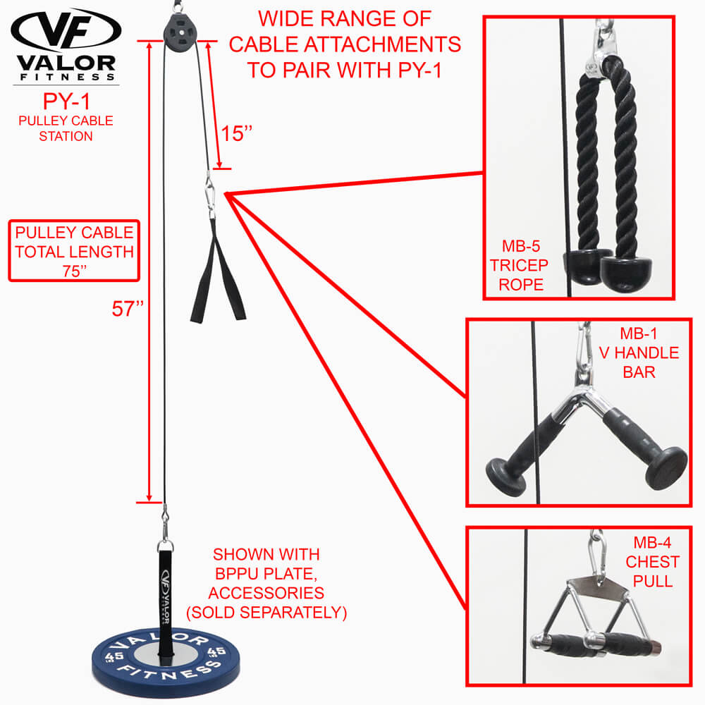 Valor Fitness PY-1 Pulley Cable Station Wide Range