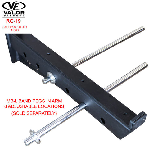 Image of Valor Fitness RG-19 Safety Spotter Arms Band Pegs In Arms