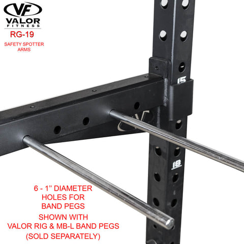 Image of Valor Fitness RG-19 Safety Spotter Arms Holes