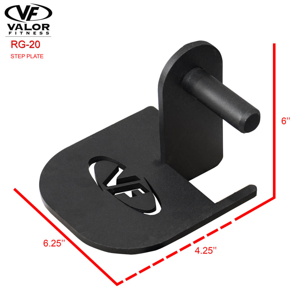 Valor Fitness RG-20 Step Plate Dimensions
