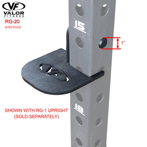 Image of Valor Fitness RG-20 Step Plate With RG-1 Upright