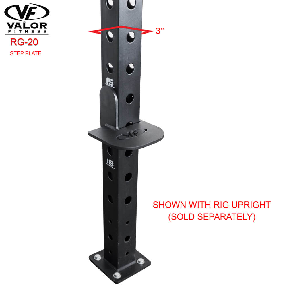 Valor Fitness RG-20 Step Plate With Rig Upright