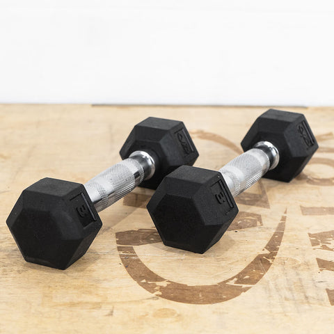Image of Valor Fitness Rubber Hex Dumbbells RH 3lb Pair 3D View