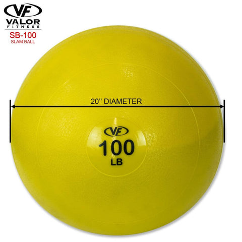 Image of Valor Fitness SB Slam Balls 100 Lbs Dimensions