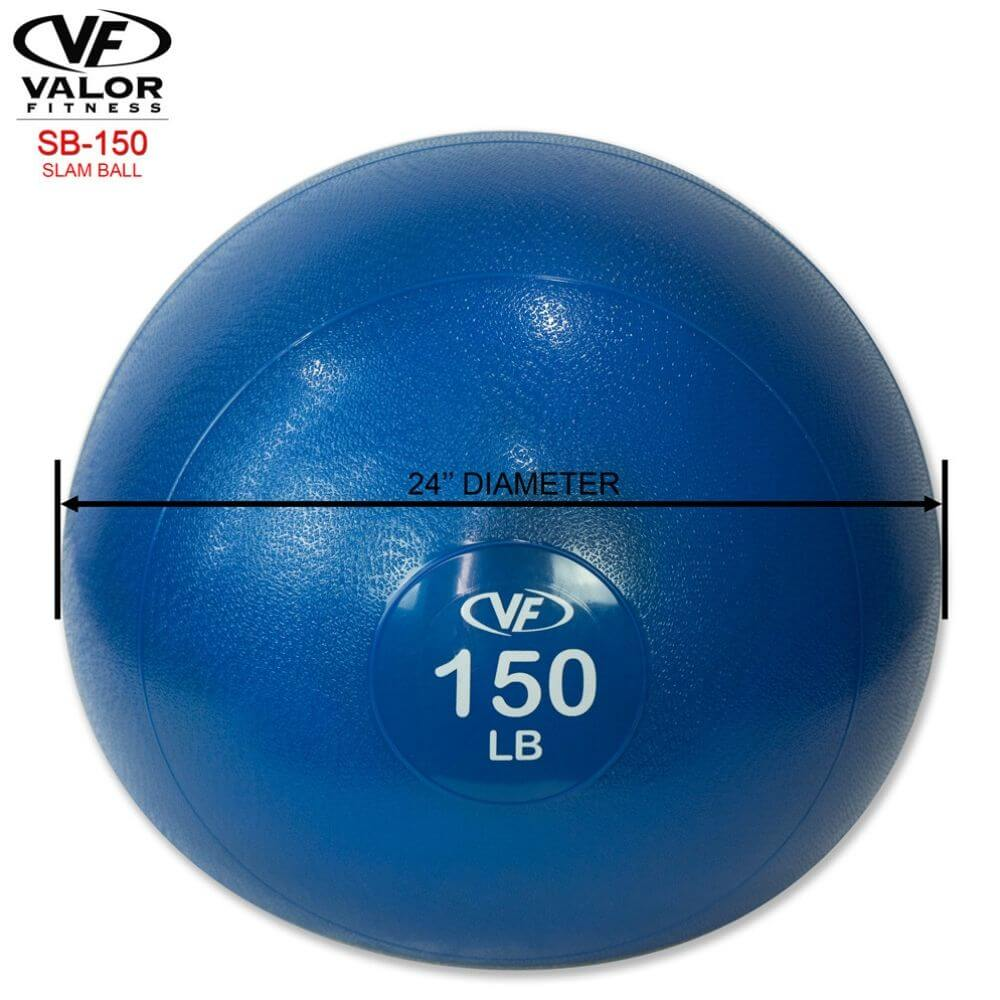 Valor Fitness SB Slam Balls 150 Lbs Dimension
