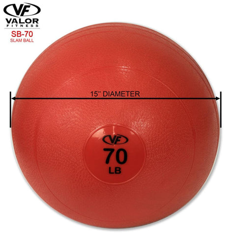 Image of Valor Fitness SB Slam Balls 70 Lbs Dimensions