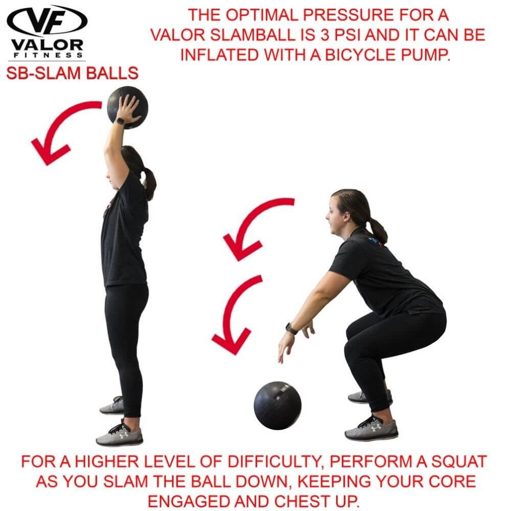 Valor Fitness SB Slam Balls Squat