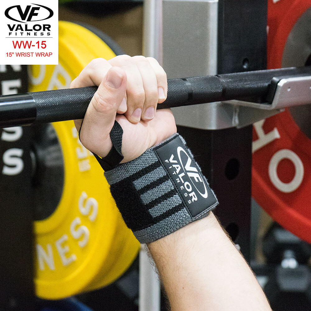 Valor Fitness WW-15 15 Wrist Wrap Back View
