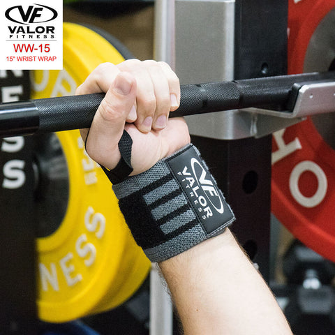 Image of Valor Fitness WW-15 15 Wrist Wrap Back View