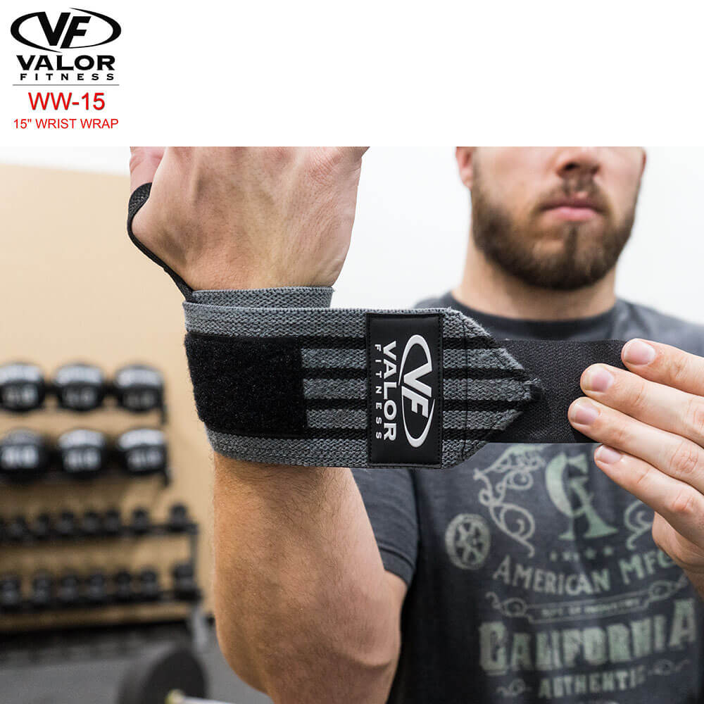 Valor Fitness WW-15 15 Wrist Wrap Front View
