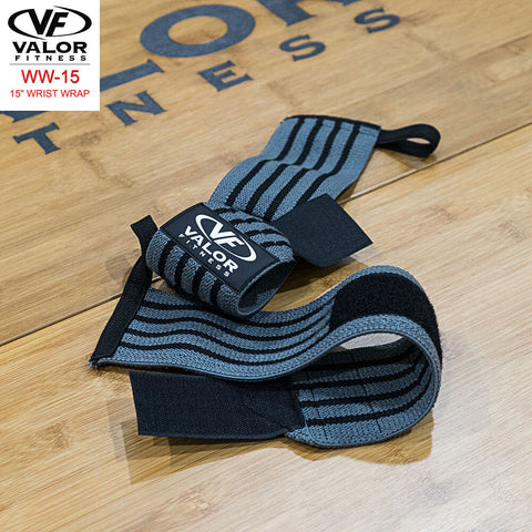 Image of Valor Fitness WW-15 15 Wrist Wrap On The Floor