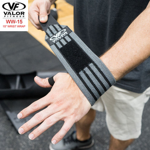 Image of Valor Fitness WW-15 15 Wrist Wrap Tying