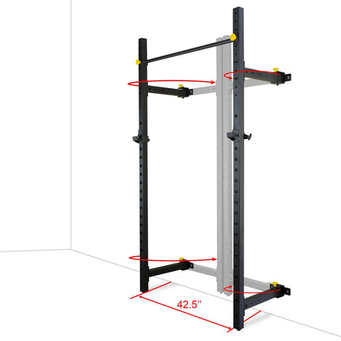 Image of Valor Fitness Wall Mount Foldable Squat Rack BD-20 Dimension Base