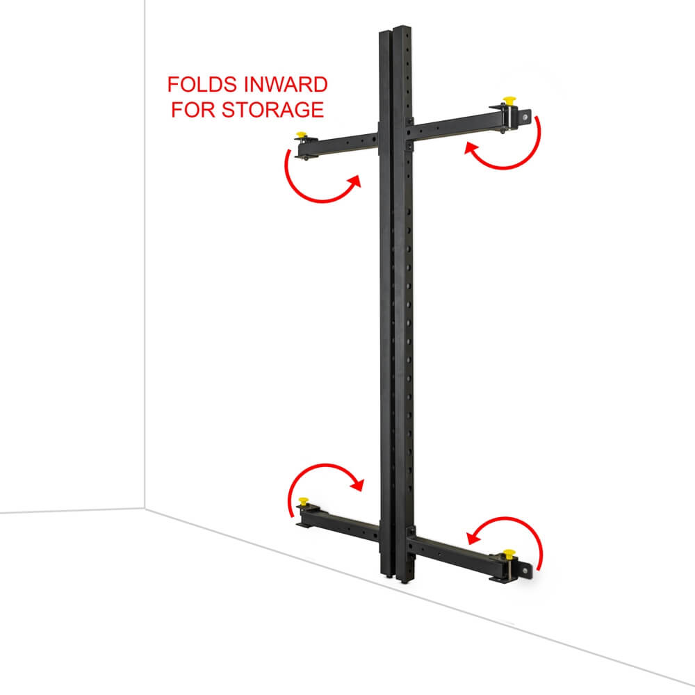 Valor Fitness Wall Mount Foldable Squat Rack BD-20 Folds Inward