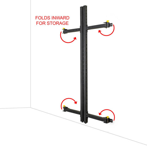 Image of Valor Fitness Wall Mount Foldable Squat Rack BD-20 Folds Inward