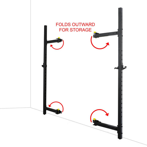Image of Valor Fitness Wall Mount Foldable Squat Rack BD-20 Folds Outward