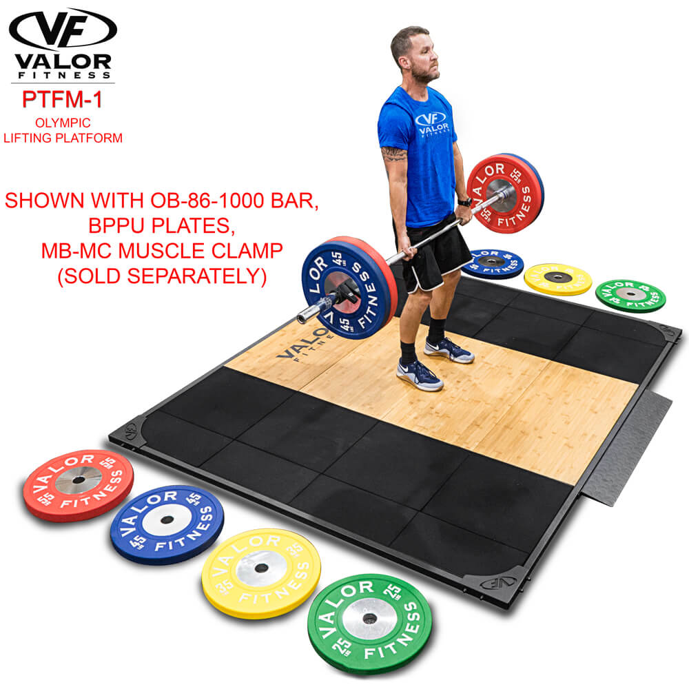 Valor Fitness Weightlifting Platform PTFM-1 With BPPU Plates