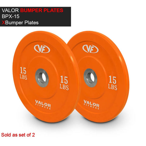 Valor Fitness XBP XBumper Plates 15 Lbs 3D View