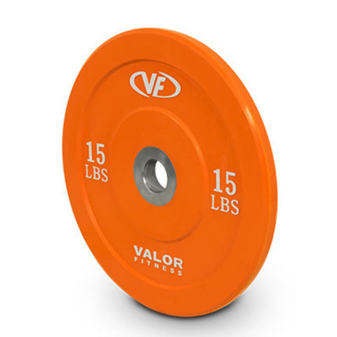 Image of Valor Fitness XBP XBumper Plates 15 Lbs Close Up