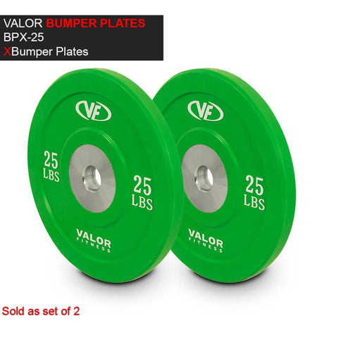 Valor Fitness XBP XBumper Plates 25 Lbs 3D View