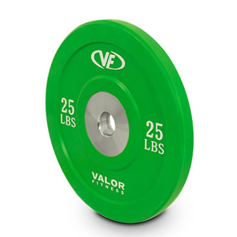 Image of Valor Fitness XBP XBumper Plates 25 Lbs Close Up