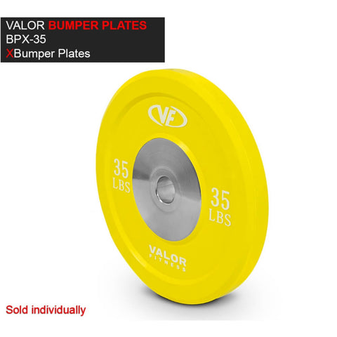 Valor Fitness XBP XBumper Plates 35 Lbs 3D View