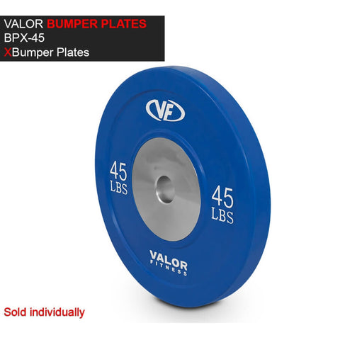Valor Fitness XBP XBumper Plates 45 Lbs 3D View