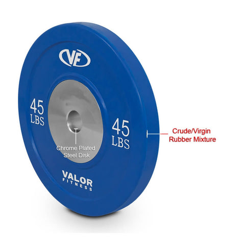 Valor Fitness XBP XBumper Plates 45 Lbs Rubber Mixture