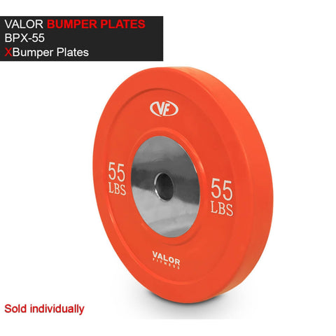 Valor Fitness XBP XBumper Plates 55 Lbs 3D View