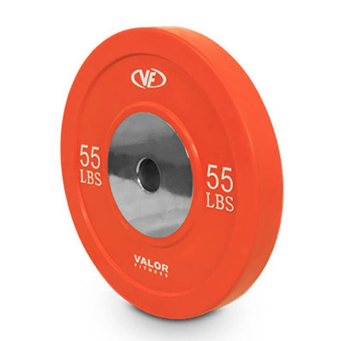 Image of Valor Fitness XBP XBumper Plates 55 Lbs Close Up