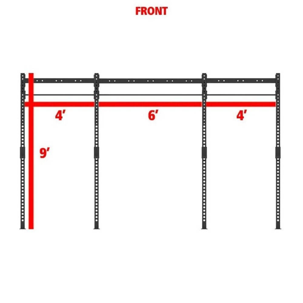 Xtreme Monkey 14-4 Free Standing Rig Front View