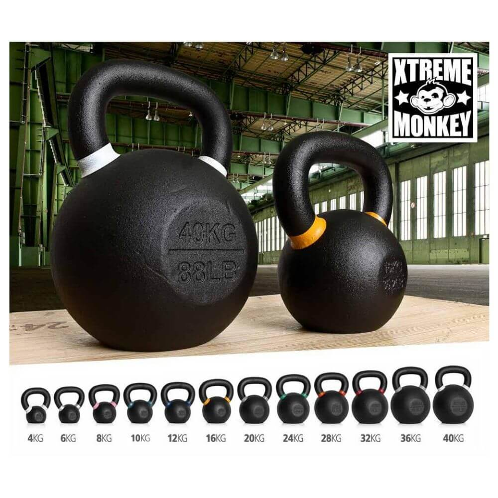 Xtreme Monkey Gravity Poured Cast Iron Kettle Bells Set