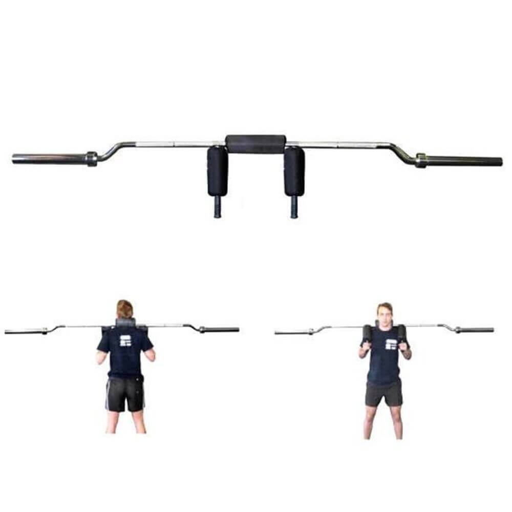 Xtreme Monkey XM-3490 Olympic Safety Squat Bar Front View And Back View
