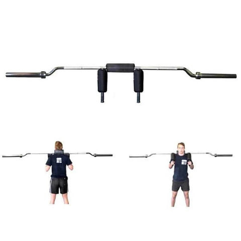 Image of Xtreme Monkey XM-3490 Olympic Safety Squat Bar Front View And Back View