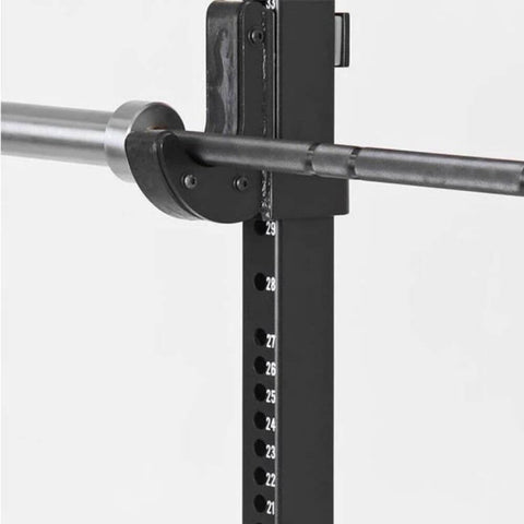 Xtreme Monkey XM-4052 Commercial H-Base Squat Stand J Hook Close Up