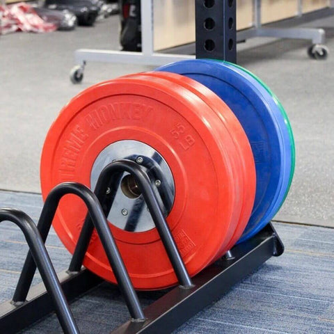 Image of Xtreme Monkey XM-4725 Bumper Plate Storage Rack With Bumper Plate