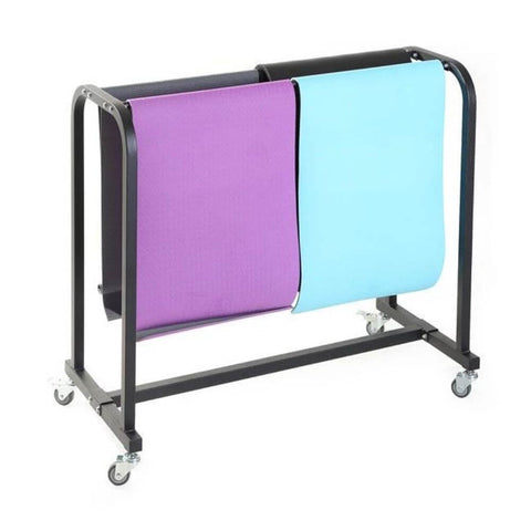 Image of Xtreme Monkey XM-4834 Mat Storage Cart 3D View With Mats