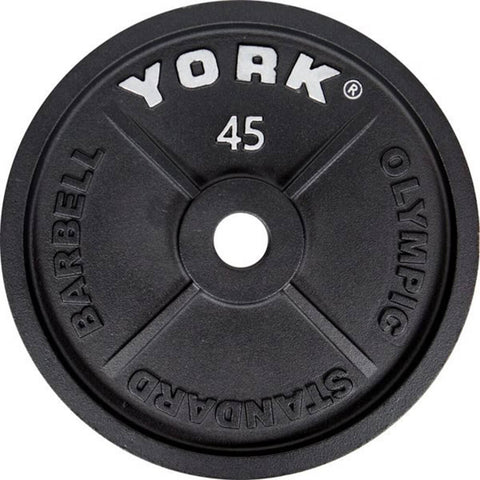 York Barbell 2 Inch Cast Iron Olympic Plates - 45lb Plate