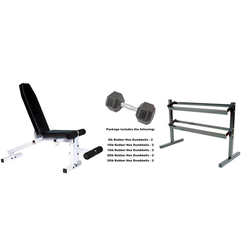 York Barbell Beginner Dumbbell Package