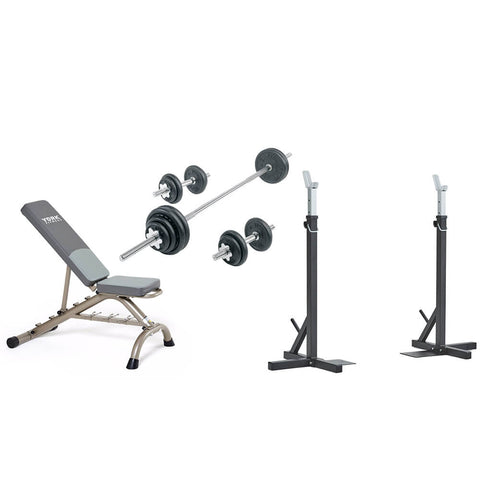 York Barbell In-Home SquatBench Package