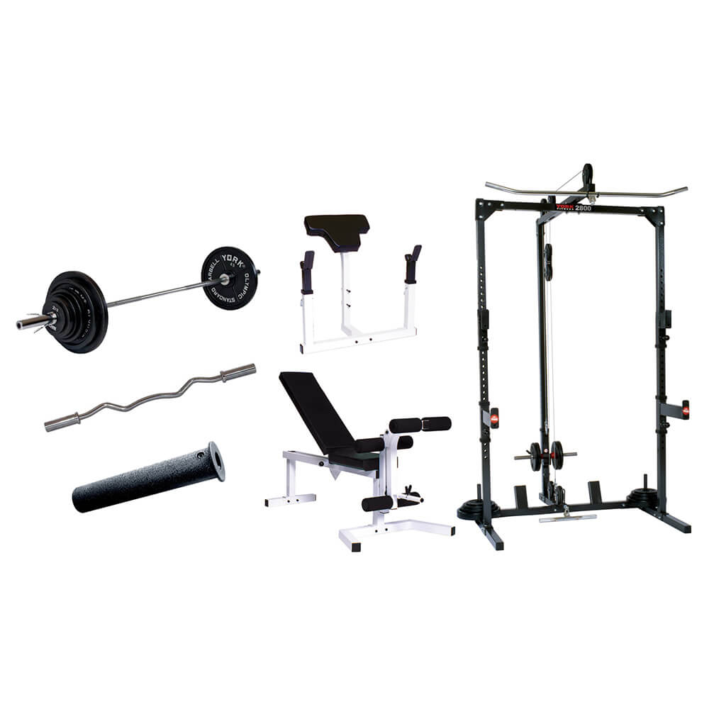 York Barbell York Basic Training Cage with Barbell System
