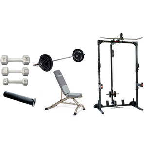 York Barbell York Basic Training Cage with Free Weight System