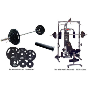 York Barbell York Basic Training Power Cage - Pulley and Barbell System