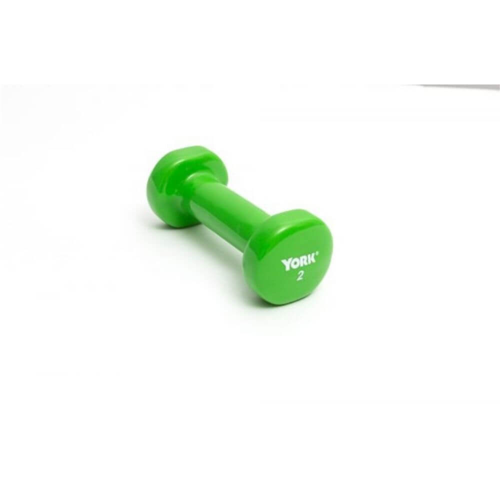 York Barbell 15000 Multi-Color Vinyl Fitbells 2lbs - Lime