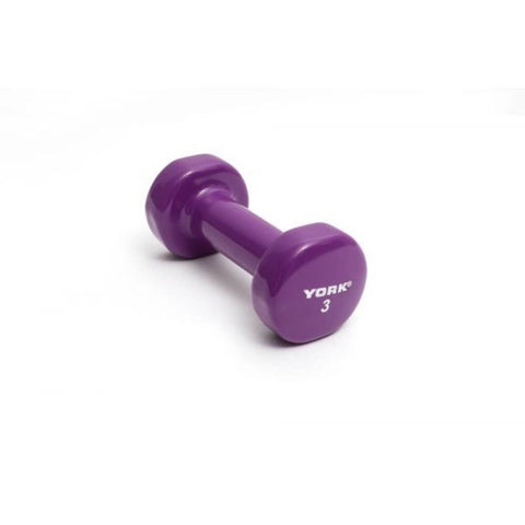 Image of York Barbell 15000 Multi-Color Vinyl Fitbells 3lbs - Grape