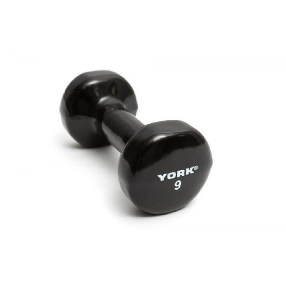York Barbell 15000 Multi-Color Vinyl Fitbells  Black