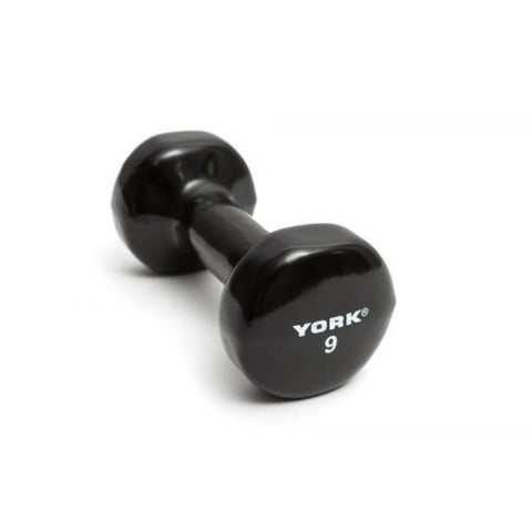 Image of York Barbell 15000 Multi-Color Vinyl Fitbells  Black