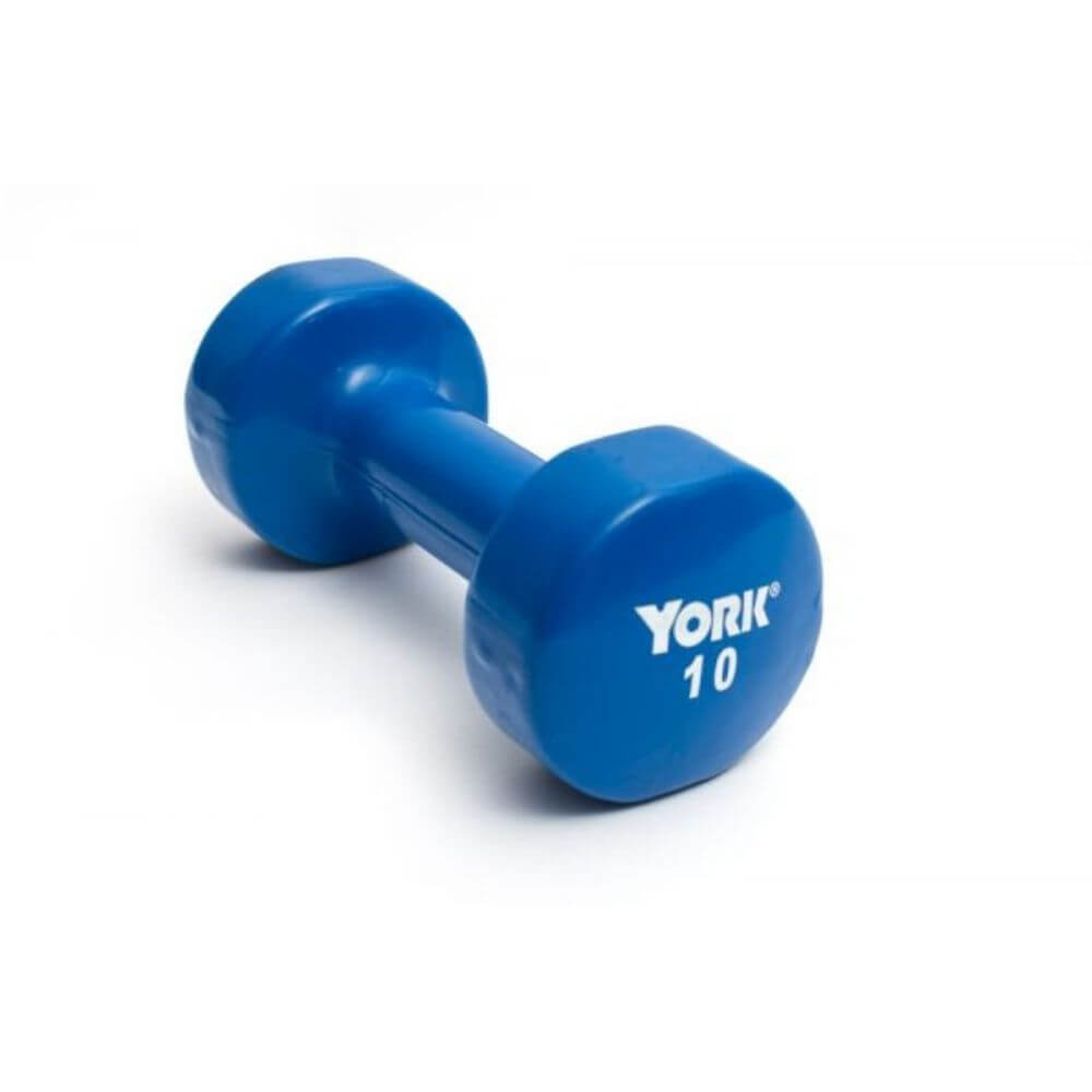 York Barbell 15000 Multi-Color Vinyl Fitbells Blue