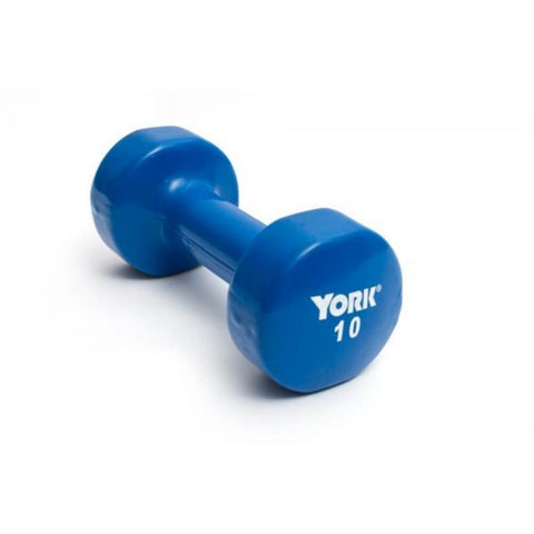 Image of York Barbell 15000 Multi-Color Vinyl Fitbells Blue